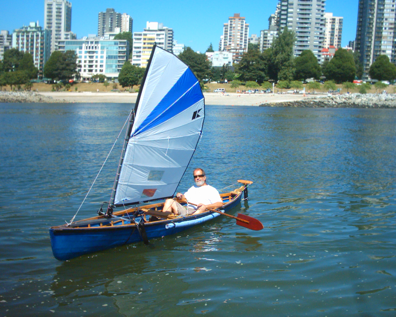 kayak sailing rig
