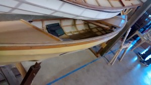 The bamboo decked boat